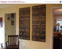 HOLIDAY SALE Winery Board - Napa Valley OR Sonoma Valley Or Custom - Salvaged Wood - 24x60 - Bus Roll Inspired - RuPiper Designs Original. $139.45, via Etsy.