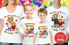 Daniel Tiger Birthday Shirt designs for the whole family, including the birthday boy! See more now.