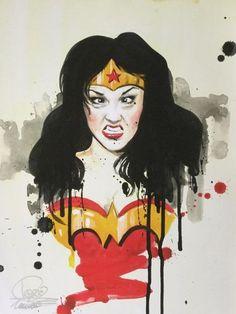 Online veilinghuis Catawiki: Lora Zombie - 'Very Wonder Woman 3'
