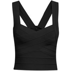 SheIn(sheinside) Black Strap Bandage Crop Tank Top (29 CAD) ❤ liked on Polyvore featuring tops, crop tops, shirts, tank tops, black, camisole tops, crop top, polyester camisole, crop shirts and spaghetti strap shirt