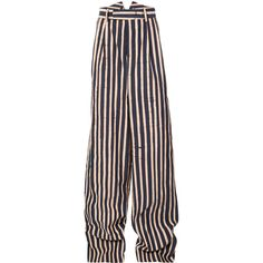 Charles Jeffrey Loverboy striped straight-leg trousers (€980) ❤ liked on Polyvore featuring men's fashion, men's clothing, men's pants, men's casual pants, blue, men's casual cotton pants, mens striped pants, mens straight leg cargo pants, mens blue pants and mens cotton pants
