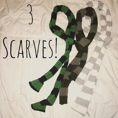 3 scarves! Three scarves - sold together! Accessories Scarves & Wraps