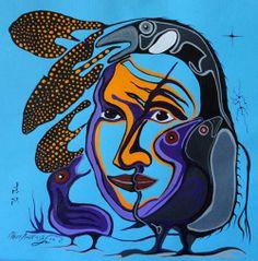Family, Moses Amik Beaver American Indian Art, Native American Art, American Indians, Native Canadian, Aboriginal Artists, Indigenous Art, Nativity, Graphic Art, Woodland