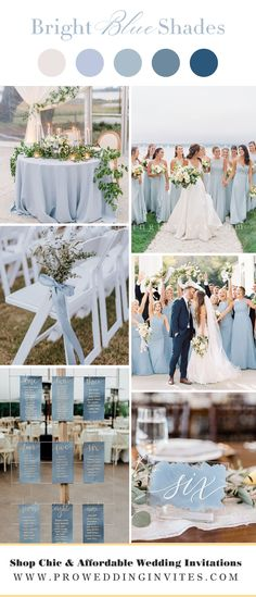Wedding Colors For May, Colors For Weddings, Color Scheme Wedding, Blue Wedding Colors, Summer Wedding Themes, Autumn Wedding Colors, Wedding Color Palettes, Summer Wedding Flowers, Summer Wedding Ideas