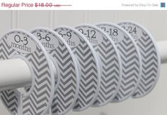 Our baby closet dividers make organizing your childs closet so easy! These baby closet dividers are also the perfect gift for a new baby. Our