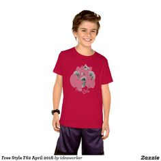 Free Style F62 Kids' Basic American Apparel T-Shirt (Color: Red)   #design #fashion #freestyle #kid #tshirt