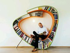Whimsical Bookcase Reading Nook -=- Unique & Clever Reading Room  <3