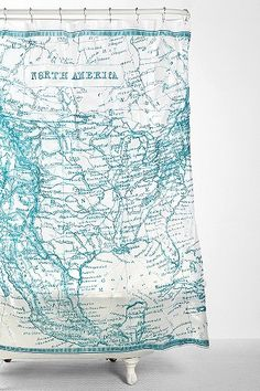 USA Map Shower Curtain