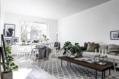 Sunny apartment in Stockholm | image via realtors @mohv_sthlm styled by @scandinavianhomes  @clearcutfactory