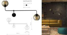 Kinkiet MONACO II vintage | LAMPY WEWNĘTRZNE \ Lampy ścienne / Kinkiety LAMPY WEWNĘTRZNE \ Lampy sufitowe / Plafony do salonu do biura do jadalni do sypialni | oświetlenie Track Lighting, Ceiling Lights, Monaco, Vintage, Home Decor, Decoration Home, Room Decor, Vintage Comics, Outdoor Ceiling Lights
