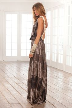 Alexis giulia one shoulder toga maxi dress