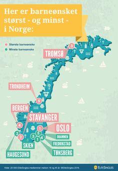 Infografikk: Her er barneønsket størst - og minst - i Norge: