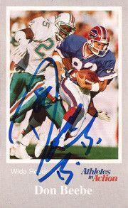 Rare Super Bowl Champion Don Beebe Autographed Christian Tr-Fold Brochure