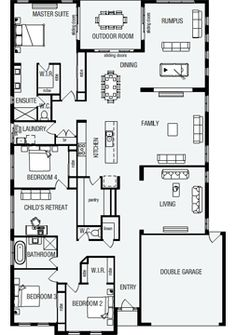 Grandview, New Home Floor Plans, Interactive House Plans - Metricon Homes - Quee. Best House Plans, Dream House Plans, Small House Plans, House Floor Plans, Dream Home Design, Home Design Plans, House Design, Hampshire, Queenslander House