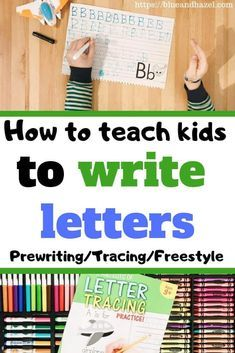 How to teach kids to write letters of the alphabet in preschool and kindergarten! From prewriting to letter tracing and sensory activities, teach your child to write their name and more! Teaching Kids To Write, How To Teach Kids, Teaching The Alphabet, Homeschool Kindergarten, Preschool At Home, Kindergarten Writing, Teaching Writing, Kids Learning, Homeschooling