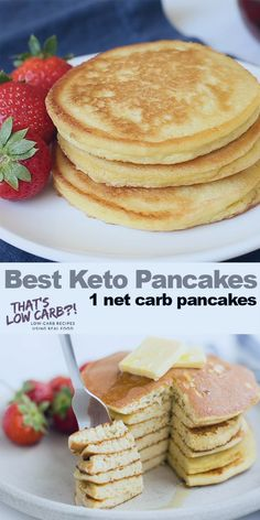 The Best Keto Pancakes recipe that has ever been made in our household! Just this keto pancake mix is so easy to whip together. Sunday morning pancakes will become a normal here on out. 👉 Try our new program (the 8 week Keto Challenge) is a Best Keto Pancakes, Low Carb Pancakes, Easy Protein Pancakes, Breakfast Pancakes, Breakfast Cereal, Keto Pancakes Coconut Flour, Keto Cream Cheese Pancakes, Pancakes Easy, Dairy Free Keto Pancakes