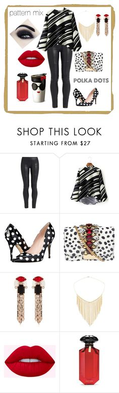 """""""Pattern Mix"""" by gigiglow ❤ liked on Polyvore featuring The Row, WithChic, Kate Spade, GEDEBE, Mawi, Lana Jewelry, Alice + Olivia and Victoria's Secret"""