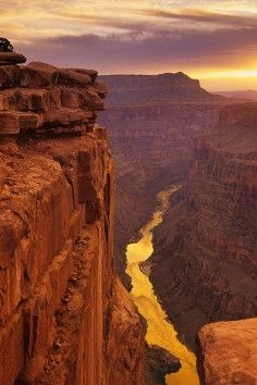 The Toroweap Overlook in the Grand Canyon is 3000 feet above the Colorado River.