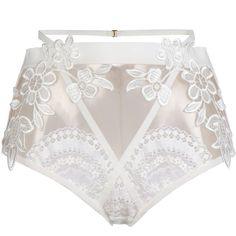 For Love & Lemons Brief ($242) ❤ liked on Polyvore featuring intimates, panties, lingerie, white, white lace lingerie, white lingerie, lacy lingerie and lace lingerie