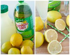 Canada Dry Ginger Ale® and 7UP® Punch -- Mix together 2L Ginger Ale & 2L Lemonade; garnish w/ fresh lemon slices & served chilled or over ice