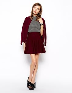 Enlarge ASOS Co-ord Skirt In Structured Knit