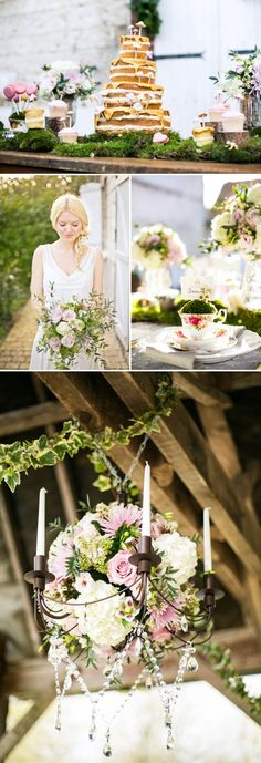 Cute place setting! A Romantic And Whimsical Bridal Inspiration Shoot With Johanna Hehir Gowns And Victoria Millesime Accessories With Stationery By Artcadia And Flowers By Boutique Blooms Images From Anneli Marinovich 11