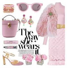 """Nothing else but pink"" by pensivepeacock ❤ liked on Polyvore featuring A.L.C., Ermanno Scervino, Yves Saint Laurent, Prada, Florence Bridge, Tiffany & Co., Sunday Somewhere, Dolce&Gabbana, Adolfo Courrier and Soap & Paper Factory"