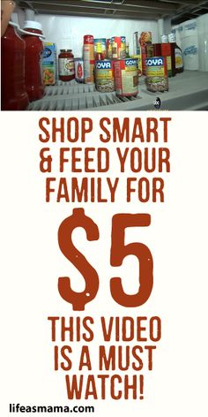 Shop Smart & Feed Your Family for 5 This Video Is A Must Watch!