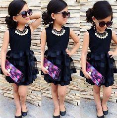US Stock Toddler Kids Girls Sleeveless Tops Ruffle Tulle Dress Party Dresses #Unbranded #Everyday