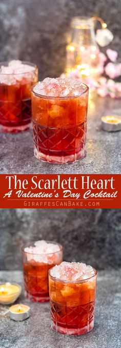 The Scarlett Heart is a sweet and delicious easy Valentine's Day Cocktail that is full of amazing flavours #valentinesday #cocktails #romanticcocktails #easycocktails