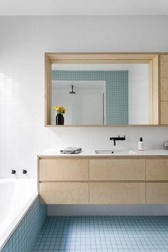 Pick one of these gorgeous ideas of using pastel bathroom interior design. Pastel Bathroom, Bathroom Tray, Bathroom Furniture, Bathroom Storage, Small Bathroom, Bathroom Ideas, Modern Bathroom, Blue Bathroom Tiles, Antique Furniture