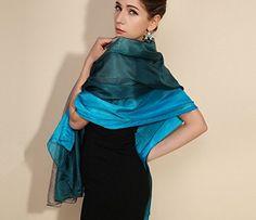 MEILISHO® 180*110cm Vintage Châle Femme - Étole en 100% Soie Naturelle (Style 3): Amazon.fr: Vêtements et accessoires