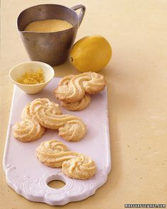Italian Polenta Cookies - Martha Stewart Recipes ... I've made these and they are delicious. Think I'll make some tomorrow.