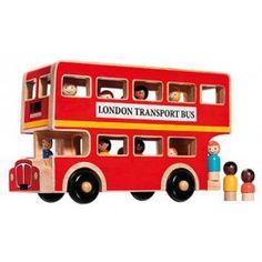 Bus à double étage londonien en bois