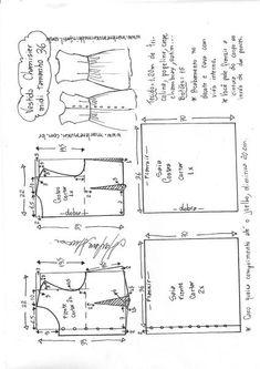 Vestido chamesier midi manga japonesa   DIY - molde, corte e costura - Marlene Mukai