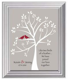 Valentine's Day Gift- Couple's Names Print -Wedding Gift for Couple - First Anniversary Gift - Wedding Date Print -Can make in other colors on Etsy, $15.00
