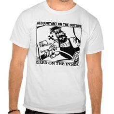 Accountant Outside Biker Inside shirt T Shirt, Hoodie Sweatshirt