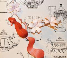 3D Animal Wall Art, Woodland Squirrel Baby Nursery Decor, Red Squirrel Paper Sculpture,