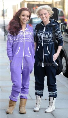 Jade and Perrie in Onesies... No makeup <<<< And still absolutely gorgeous. :)
