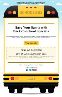 School news template: Find the template that fits your business, add your branding, and feel more confident about your email newsletter design in a matter of minutes.