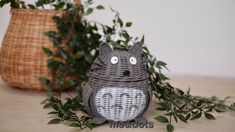 rattan totoro Rattan Basket, Totoro, Vase, Gifts, Design, Home Decor, Hampers, Paper, Presents