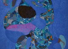 AA Newsletter 2016 Lizette Chirrime, detail of Blue Sewn fabric, canvas and paint. Images courtesy of the artist and Worldart, Cape Town. Contemporary African Art, Art Fair, Cape Town, Mixed Media, Detail, Sewing, Canvas, Digital, Artist