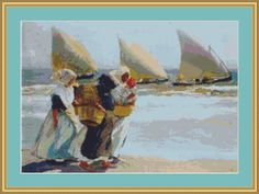 Three Sails Cross Stitch Pattern