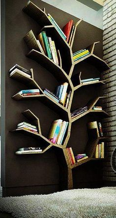 "Love this book shelf ""african interior design  ideas book shelf tree"""