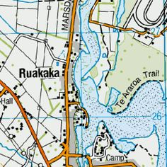 Ruakaka, Northland - New Zealand topographic map. Got Map, Email Client, Custom Map, Topographic Map, Up And Running, New Zealand, Overlays, Linz, Overlay