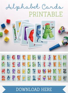 Free printable alphabet game and letters -  'The Amazing Alphabet' Personalized Book and Printables ~ Tinyme