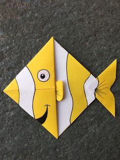 Cute animal corner bookmark fun activity for kids, cute gift idea _ Fish