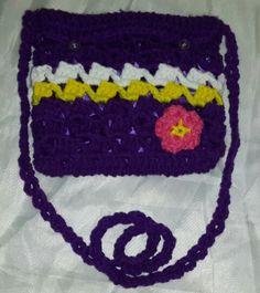 Crochet infant's purse. Ashlea of Ashlea's Designs
