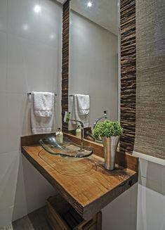Badezimmer Deko Bader Ideen Holz Pflanzen Waschbecken Aus Glas