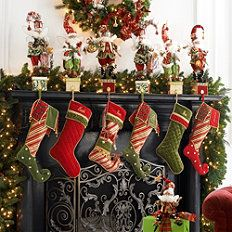 Christmas Decorations - Holiday Decorations - Christmas Decor - Frontgate...I don't have a  fireplace, but I did when I was in my home, so I love any decorations for it....